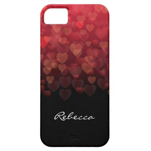 Raining Hearts iPhone 5 Cases
