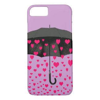 Raining hearts iPhone 7 case covers