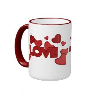 Raining Hearts & Love mug