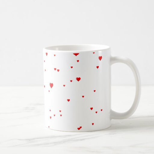 raining hearts mugs