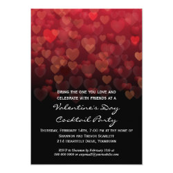 Raining Hearts Valentines Day Party Invitation