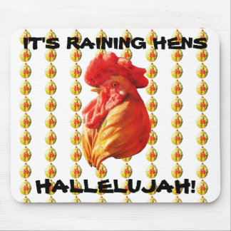 Raining Hens! Mouse Pad