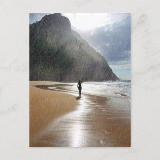 Raining in Paradise Postcard postcard