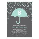Raining Love Bridal Shower Invitation (Blue) Invitations