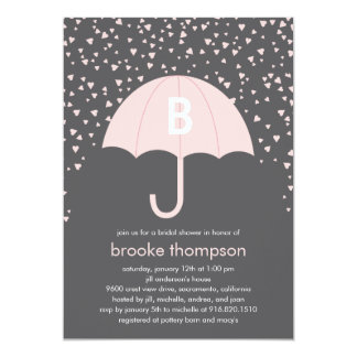 Raining Love Bridal Shower Invitation (Pink)