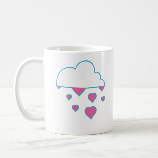 raining love coffee mug