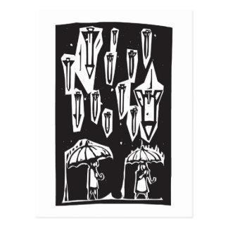Raining Missiles Postcard