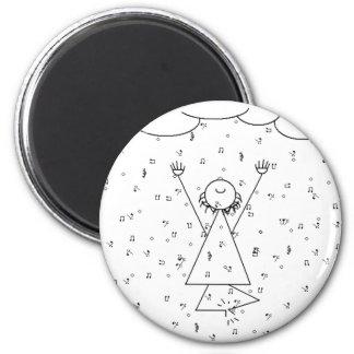 Raining Music Elation 2 Inch Round Magnet