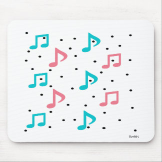 Raining Music Notes Mousepads