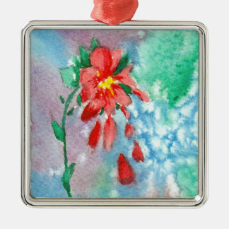 Raining Petals aceo Ornament