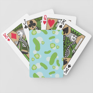 Raining Pickles Playing Cards