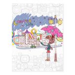 Raining Postcard