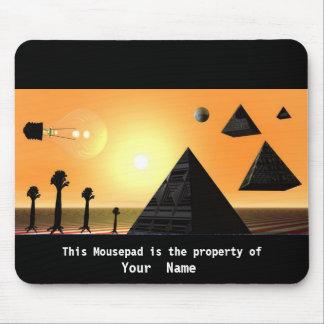 Raining Pyramids  Mousepad Mouse Pad