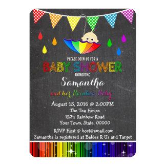 rainbow baby shower invitations announcements zazzle