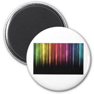 Raining Rainbow stars 2 Inch Round Magnet