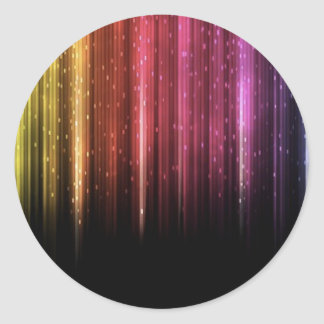 Raining Rainbow stars Classic Round Sticker