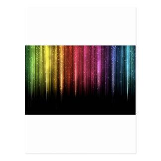 Raining Rainbow stars Postcard