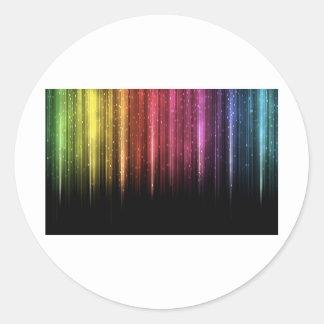 Raining Rainbow stars Round Sticker
