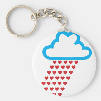 Raining Red Hearts Keychain