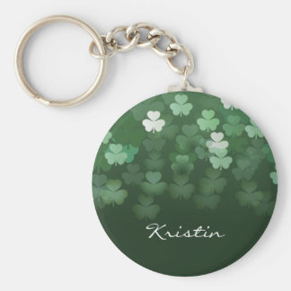 Raining Shamrocks Keychain