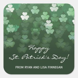 Raining Shamrocks St Patricks Day Sticker