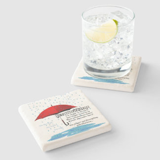 Raining & Sing Alternative Facts Limestone Coaster