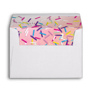 Raining Sprinkles Candy Land Sweets Party Envelope