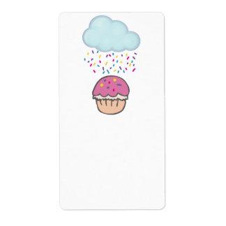 Raining Sprinkles on Cupcake Custom Shipping Labels