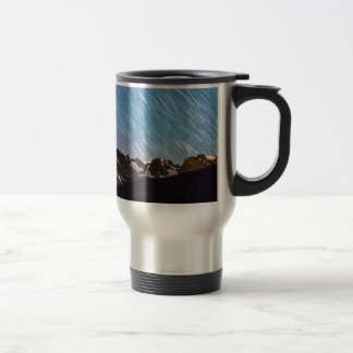 Raining Stars Over Longs Lake and The Indian Peaks 15 Oz Stainless Steel Travel Mug