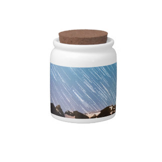 Raining Stars Over Longs Lake and The Indian Peaks Candy Jar