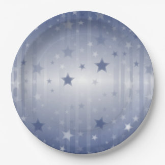 Raining Stars Veterans Day Party Paper Plates