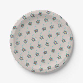 Raining Violets Paper Plates