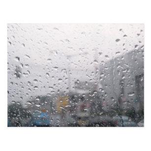 rain on window postcards zazzle