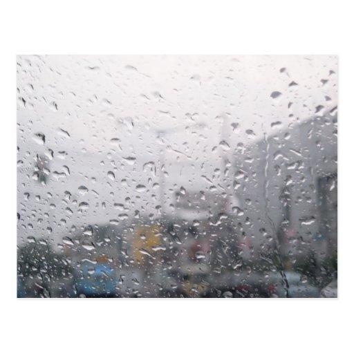 Raining Window Postcard