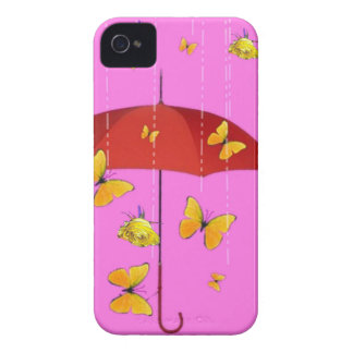 Raining Yellow Roses & Butterflies Gifts iPhone 4 Cover