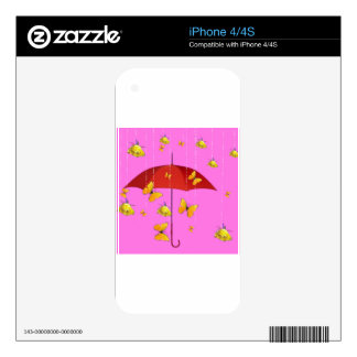 Raining Yellow Roses & Butterflies Gifts iPhone 4S Decals