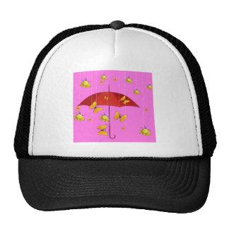 Raining Yellow Roses & Butterflies Gifts Trucker Hat