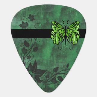 Rains Butterfly 1 green Guitar Pick