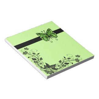 Rains Butterfly 1 green Notepad