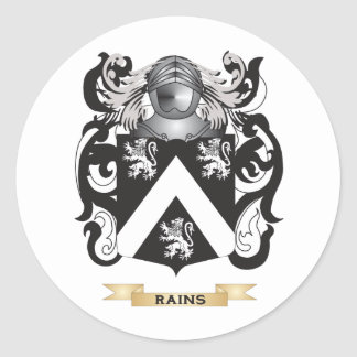 Rains Coat of Arms (Family Crest) Round Stickers