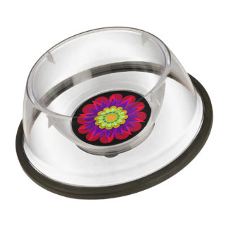 Rain's pretty flower 4 pet bowl