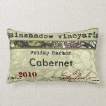 Rainshadow Vineyards Cabernet Lumbar Pillow