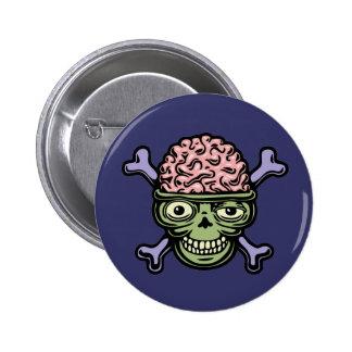 ∫rainskull pinback button