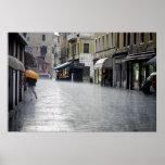 Rainstorm in Venice, Italy Print