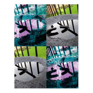 Rainwater Puddle Composite Design Postcard