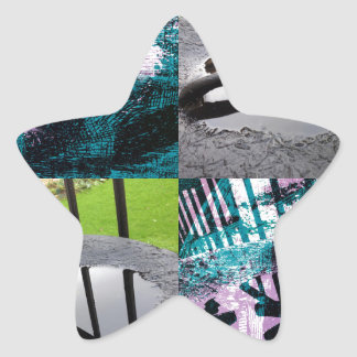 Rainwater Puddle Composite Design Star Sticker