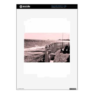 Rainy Beach Day Skin For iPad 2