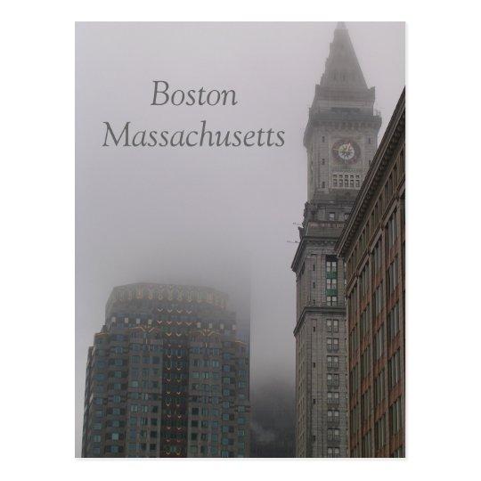 rainy Boston Massachusetts Postcard