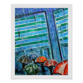 Rainy City poster art/print/wall art/decorative