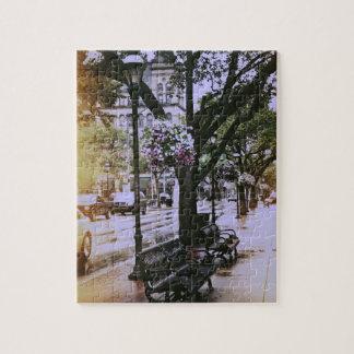 Rainy City Streetscape Puzzle